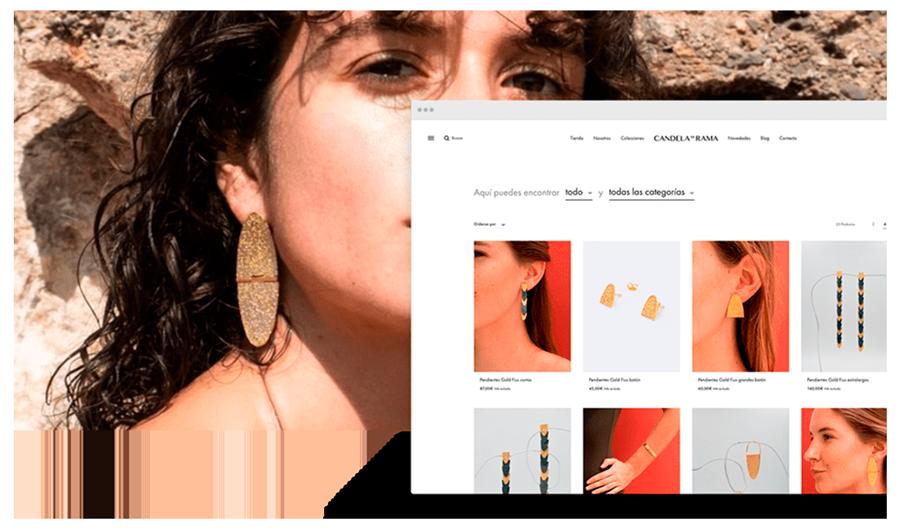 Candela en rama - Diseño web