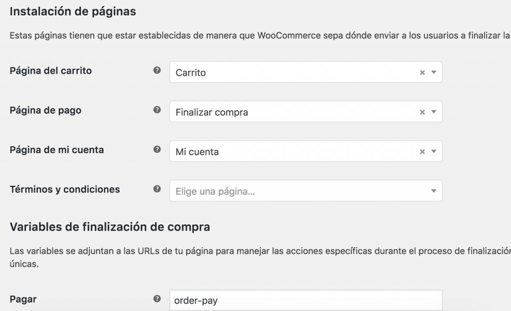 configuracion avanzado wordpress